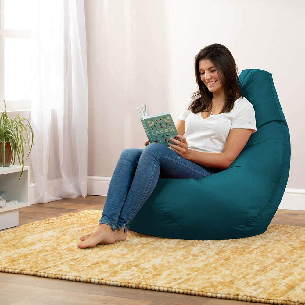 XXL Tall Gamer Bean Bags Beanbag Chair Highback Adult