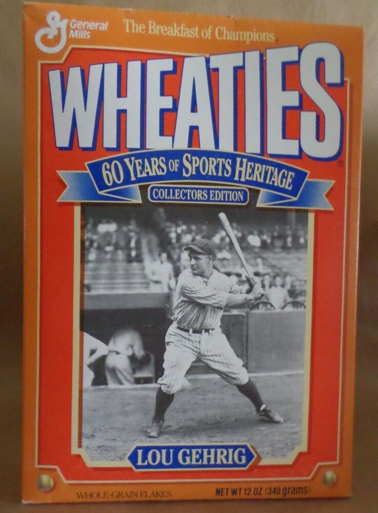 Lou Gehrig Wheaties Box 60 Years Of Sports Heritage