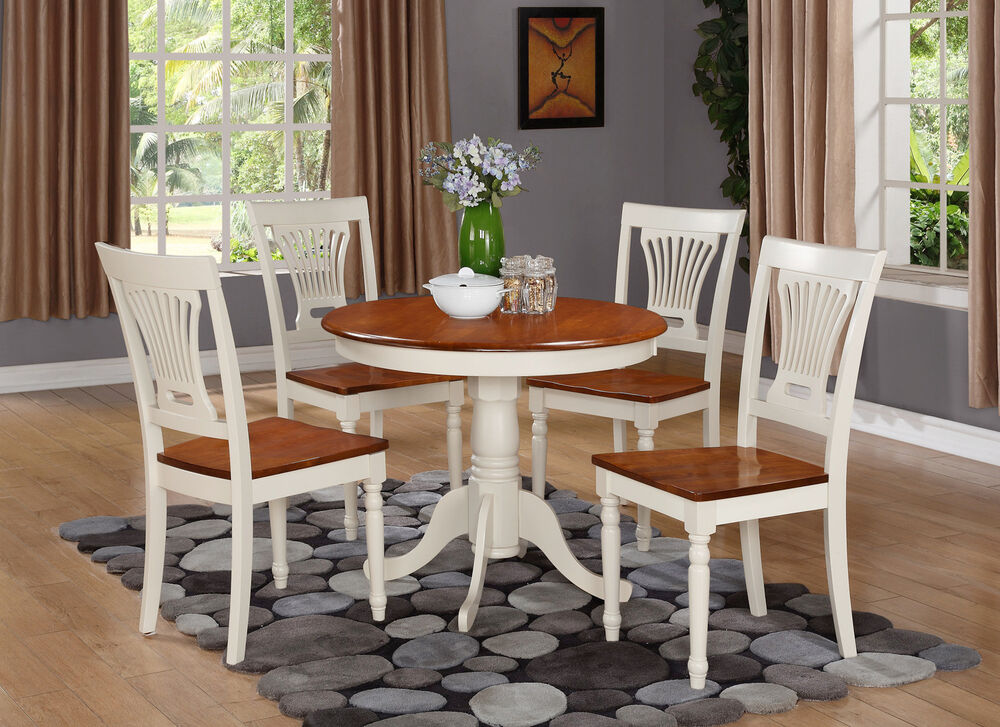 3-PC DINETTE KITCHEN TABLE W/ 2 PLAINVILLE WOOD SEAT