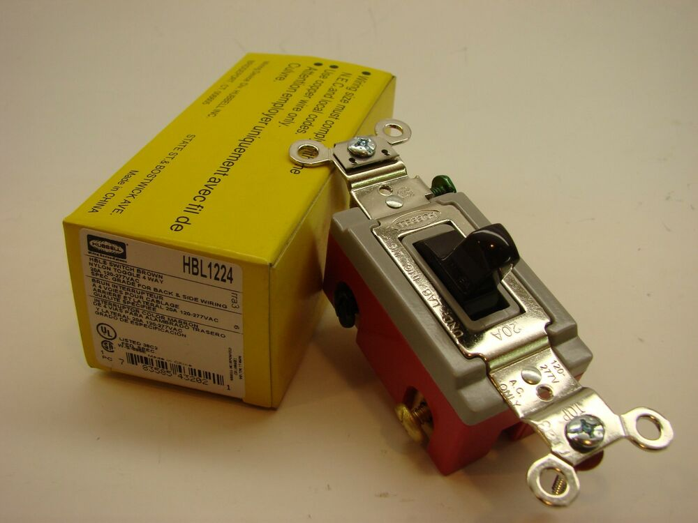 Hubbell HBL1224 4 Way Toggle Switch 20A 120277V 120/277