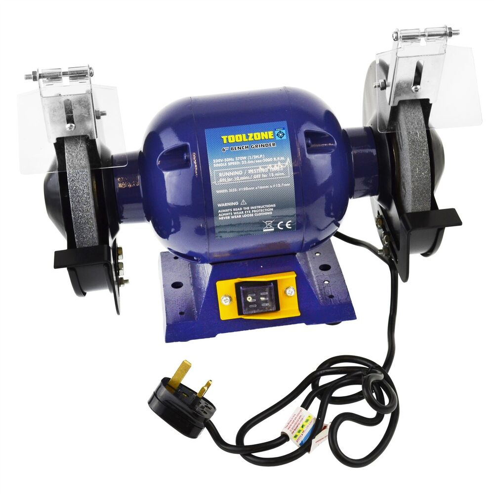 150mm 6 Inch 370w Bench Grinder Electric Twin Wheel Metal