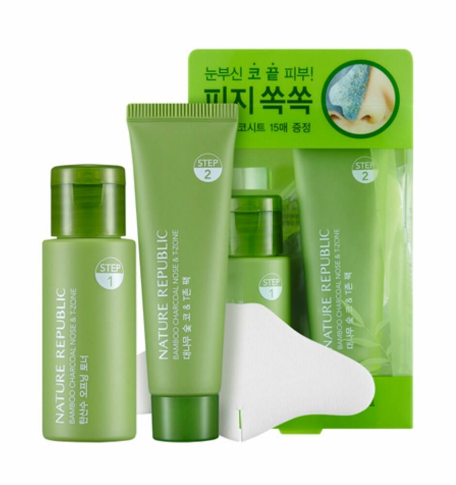 Nature Republic Bamboo Charcoal Nose T Zone Pack eBay