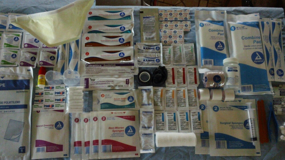 FIRST AID REFILL KIT SUPPLIES FOR SURVIVAL BUG OUT