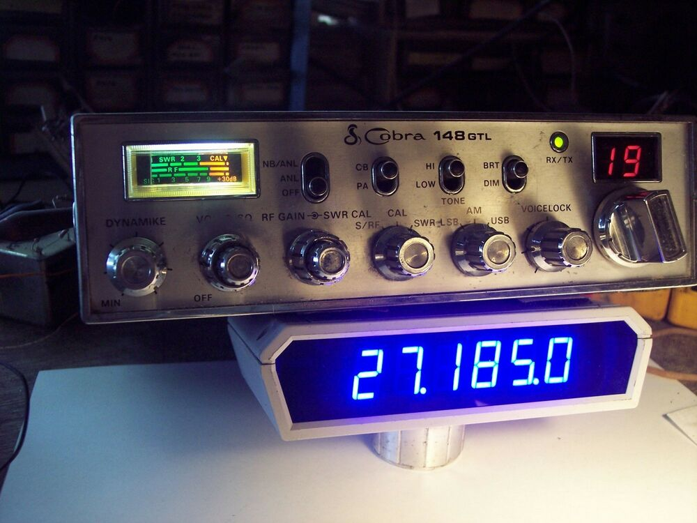 Cobra 148 Gtl Frequency Counter Blue Display