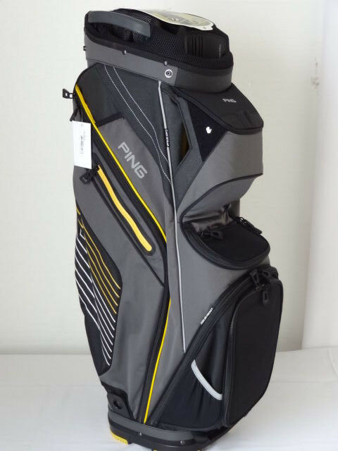 Ping Pioneer Cart Bag 2017 CharcoalYellowWhite NEW 8568