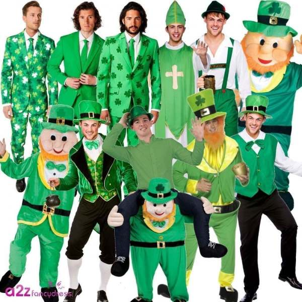 MENS ST PATRICK'S DAY PATRICK IRISH IRELAND LEPRECHAUN ...
