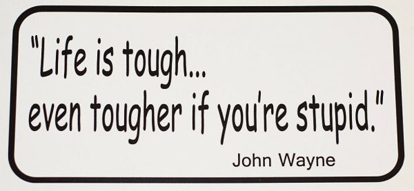 LIFE IS TOUGH.... Decal FREE SHIPPING | eBay
