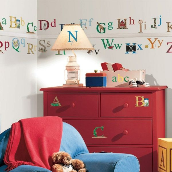 Set of New ALPHABET WALL STICKERS Kids Bedroom Toy Room ...