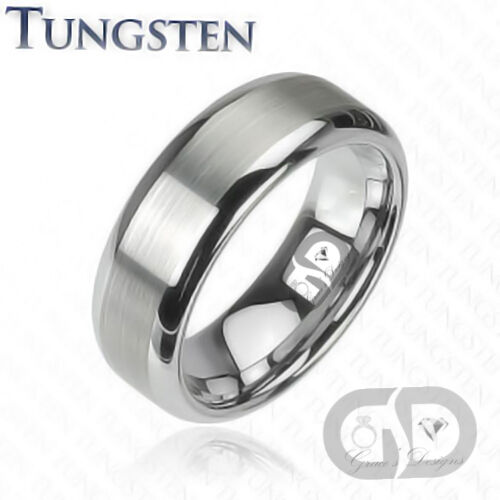 Tungsten Carbide 8mm Mens Ring Anniversary Engagement
