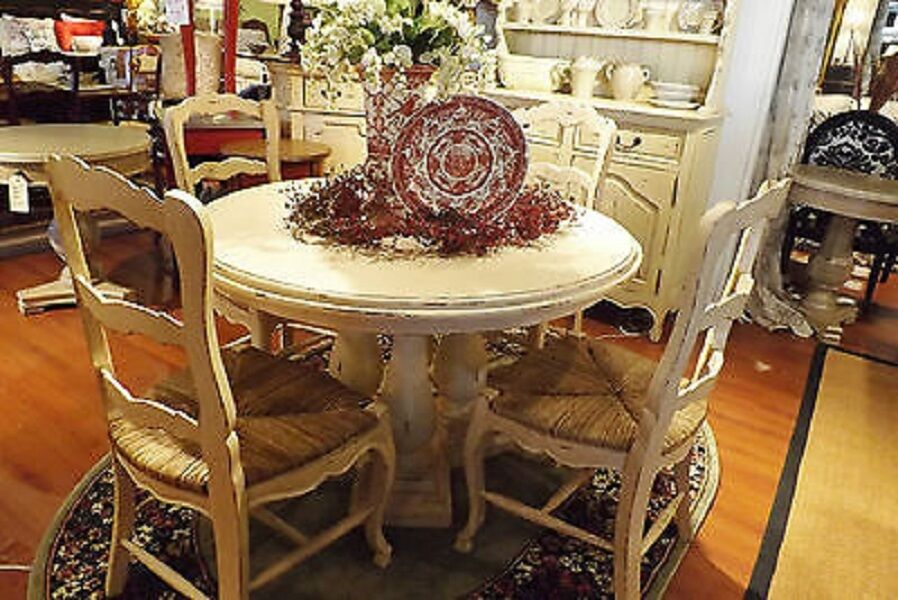 French Country Column Dining 48 Round Dining Table Off