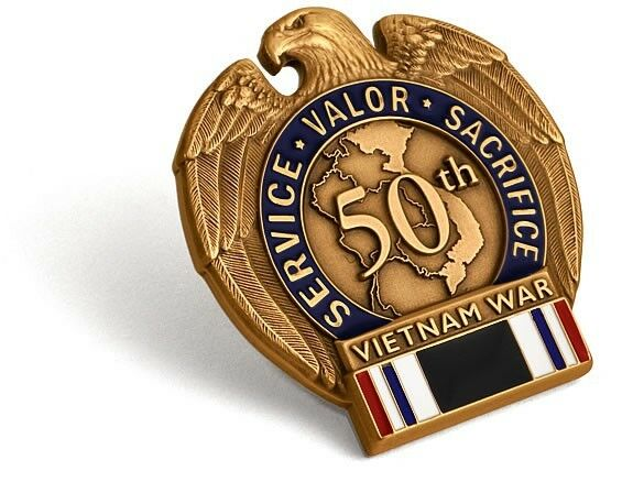 Vietnam War 50th Anniversary POW MIA Lapel Pin Medal ...