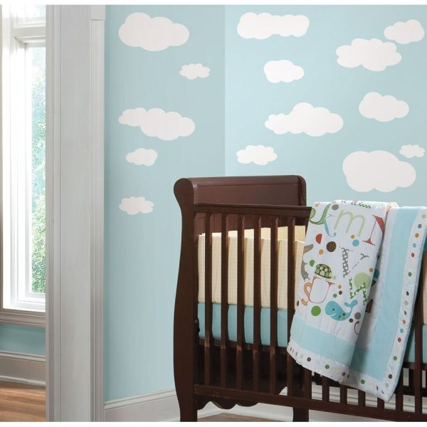 19 New WHITE CLOUDS WALL DECALS Baby Nursery Sky Stickers ...