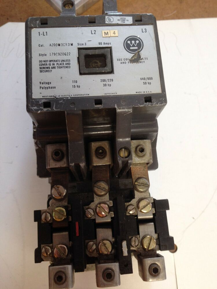 Used A200m3cxdm Westinghouse Magnetic Motor Starter Size 3