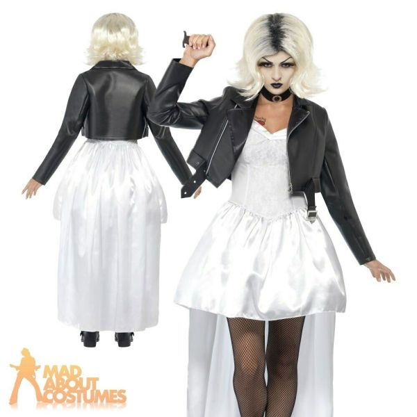 Adult Bride of Chucky Costume Ladies Womens 80s Halloween