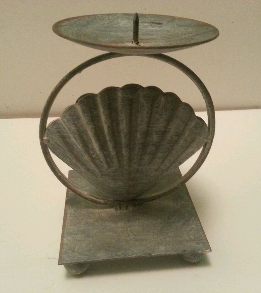 1998 Enesco Vintage Cast Iron Candle Holder | eBay on Antique Wrought Iron Wall Candle Holders id=74063