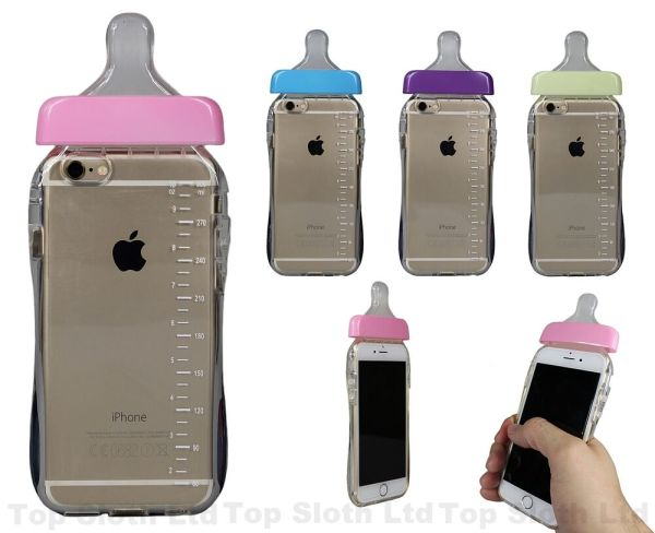 Baby Bottle TPU Hard Silicone Rubber New 3D Case Cover ...