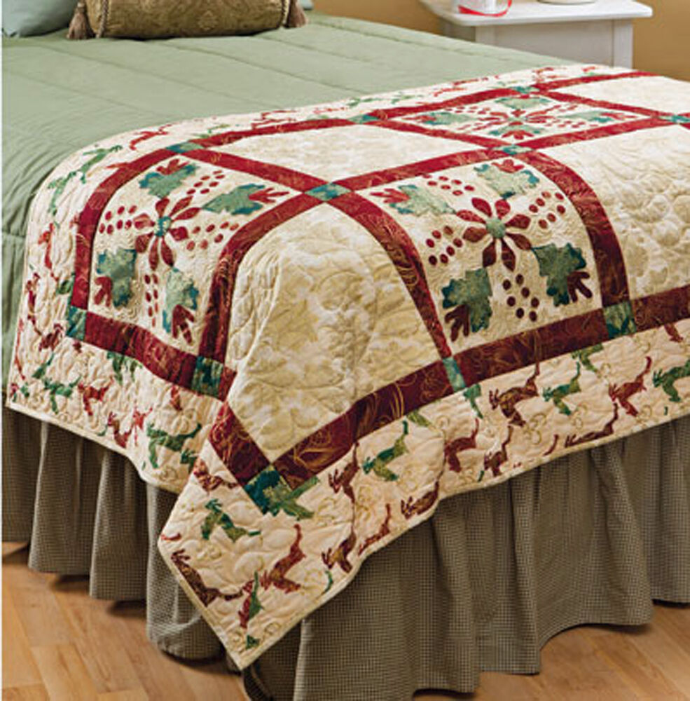 Christmas Bed Runner Amp More Holiday Patchwork Designs
