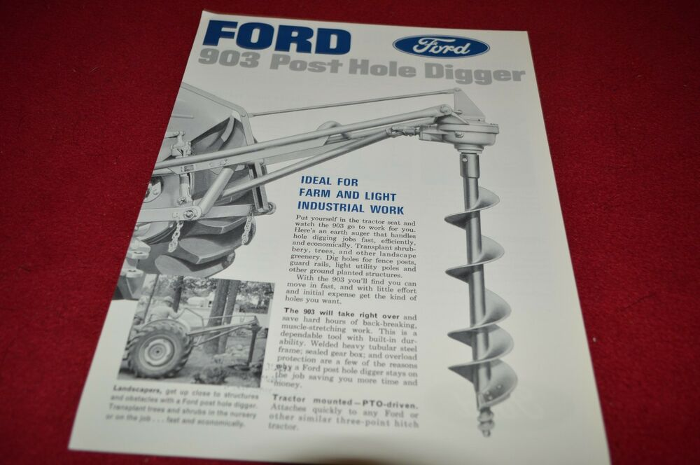 Ford Tractor 903 Post Hole Digger Dealer S Brochure Lcpa3