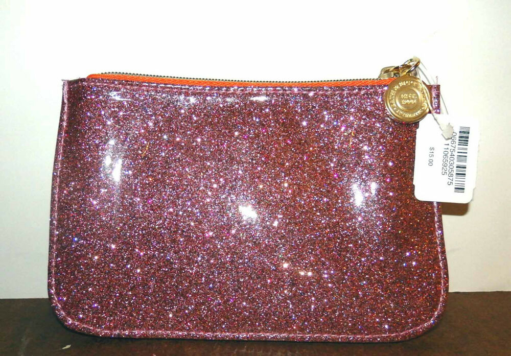 BATH Amp BODY WORKS PINK GLITTER SPARKLY BAG MAKEUP COSMETIC