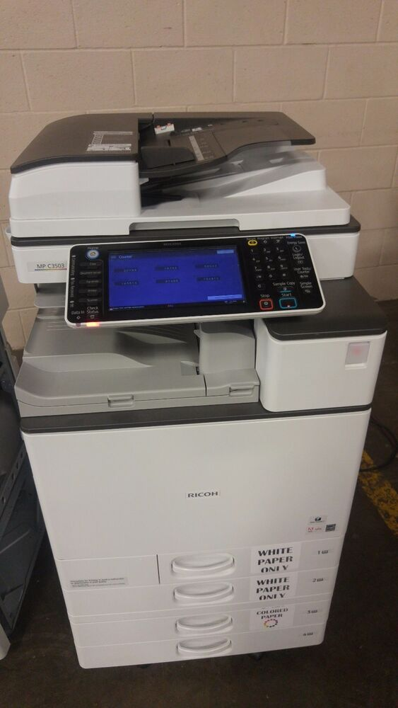 Ricoh Mpc3503 C3503 Copier Printer Scanner Finisher 35