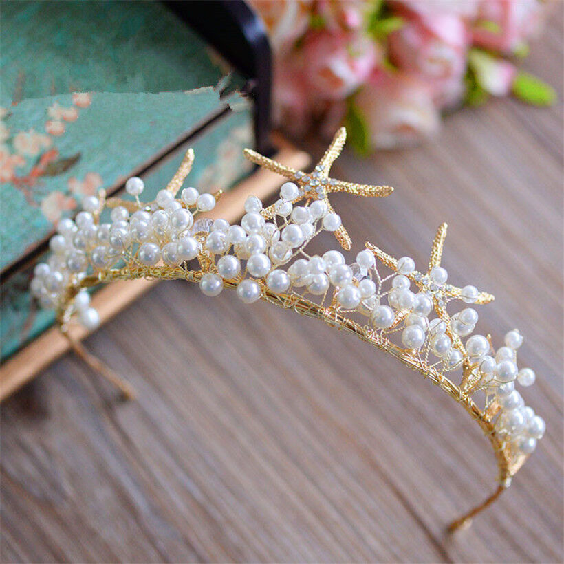 Mermaid Starfish Headband Hair Band Wedding Bridal Crown