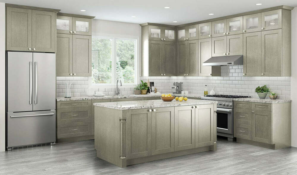 All Wood RTA 10X10 Transitional Amp Classic Kitchen Cabinets