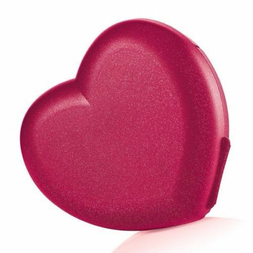 Tupperware Red Sparkling Valentine Heart Keeper Container
