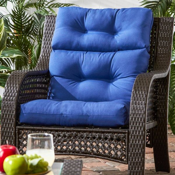 wicker patio furniture cushions Patio Chair Cushion Set Of 2 Wicker Furniture High Back