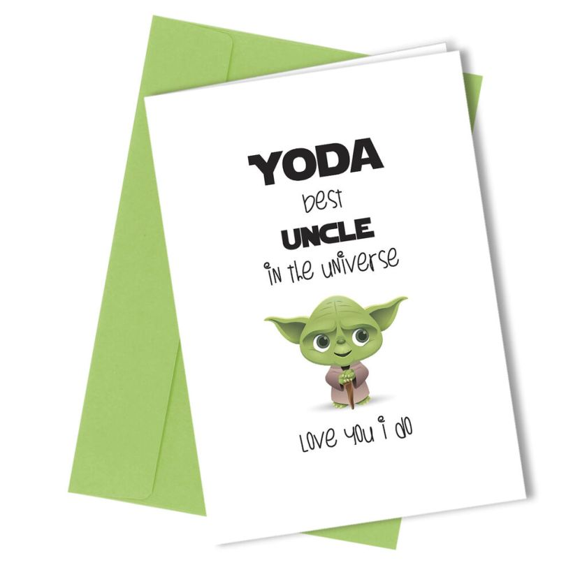 225 Uncle Greetings Card Yoda Comedy Rude Funny Humour Birthday