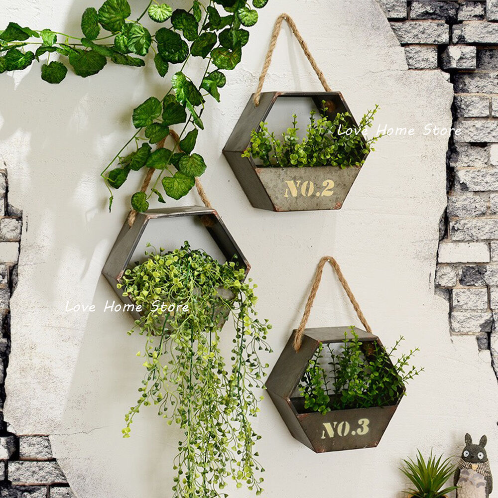 Metal Flower Plant Hangingswall Mounted Baskets Boxes ... on Decorative Wall Sconces For Flowers Hanging Baskets Delivery id=67767