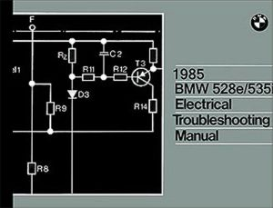 1985 BMW 528e 535i Electrical Troubleshooting Manual
