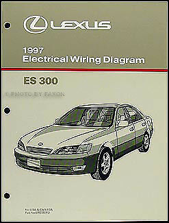 1997 Lexus ES 300 Wiring Diagram Manual OEM 97 ES300