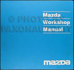 1995 Mazda MX3 Shop Manual 95 MX3 Original Repair Service Book OEM | eBay