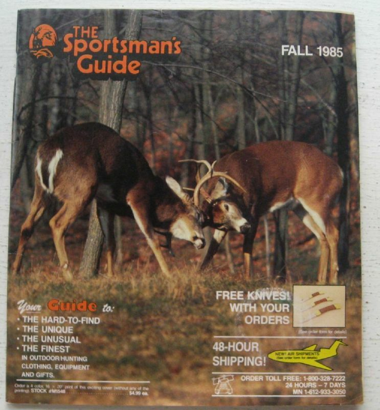 The Sportsman Guide Catalog Fall 1985 eBay