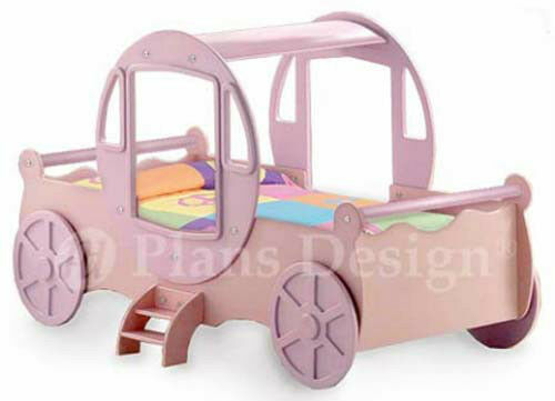 Princess Cinderella Carriage Twin Bed Woodworking Project