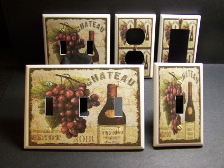Tuscan Wine Grapes Kitchen Decor Light Switch Outlet Cover V308
