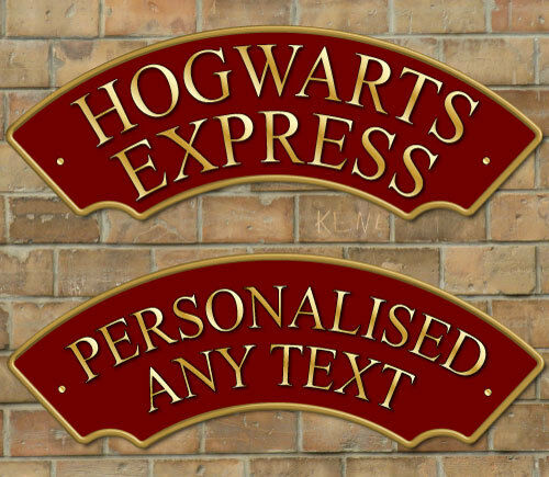 Hogwarts Express Railway Train Sign Metal Composite