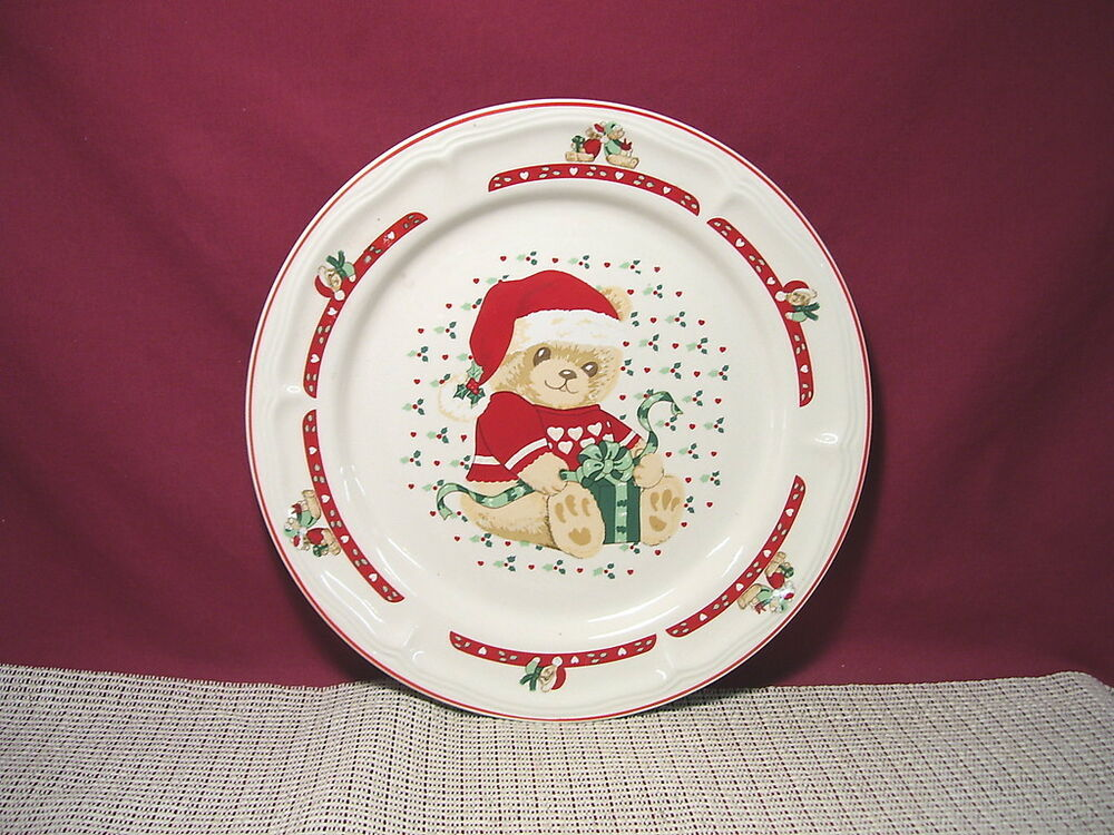Tienshan China Country Bear Christmas Dinner Plate Amp More