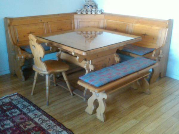 German Bavarian Table And Corner Bench