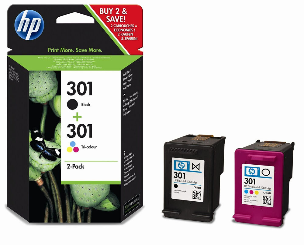 Brand New Original Hp 301combo Cr340ee Ink Cartridge For