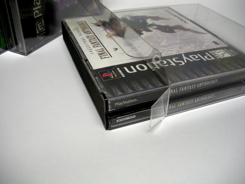 3 Clear Dual CD Game Box Jewel Case Protectors Playstation
