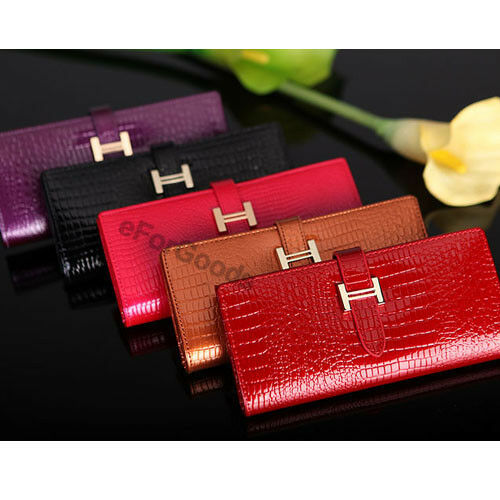 New Crocodile Pattern Genuine Leather Women Clutch Wallet