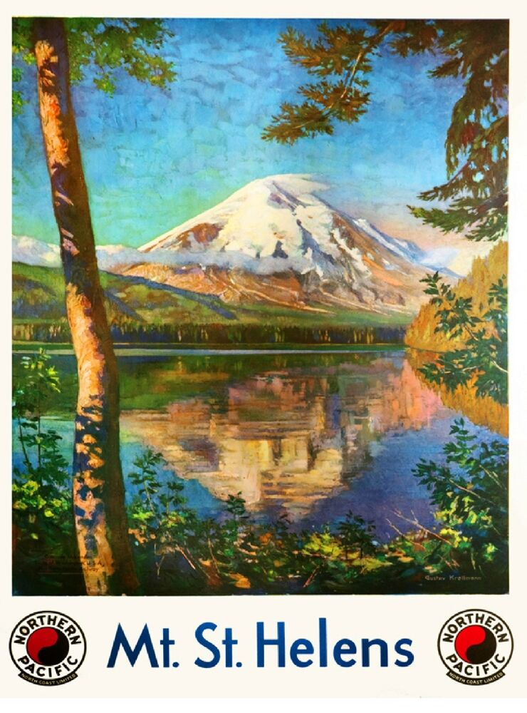 1930s Mt St Helens Washington Vintage Railroad Travel