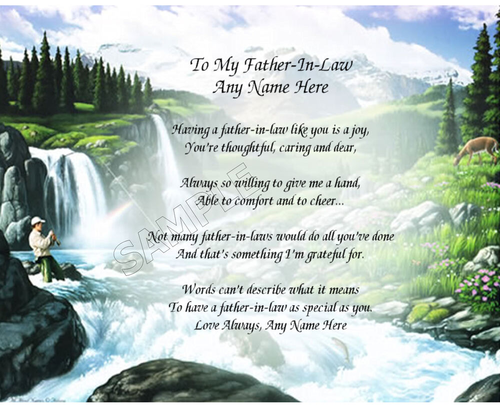 TO MY FATHER IN LAW PERSONALIZED ART POEM MEMORY BIRTHDAY