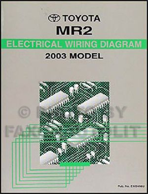 NEW 2003 Toyota MR2 Wiring Diagram Manual MR 2 Electrical