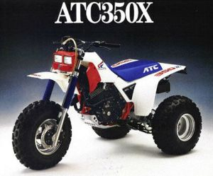 Honda ATC 350X fuel tank wing decal stickers HRC Works