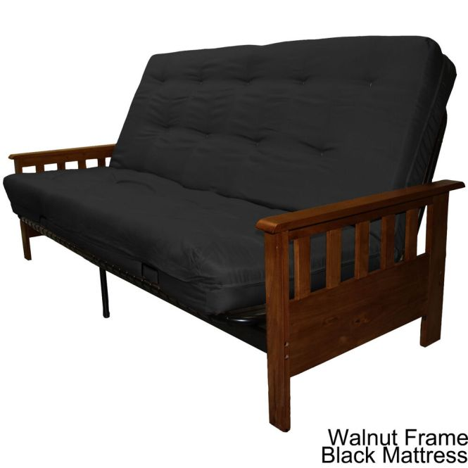 Portland Wood Metal Futon Frame And Mattress Set Choos Finish Mat Color Ebay
