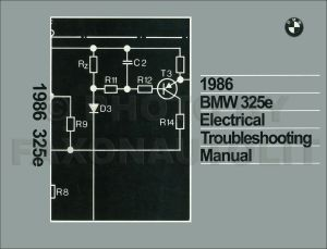 1986 BMW 325e Electrical Troubleshooting Manual Wiring