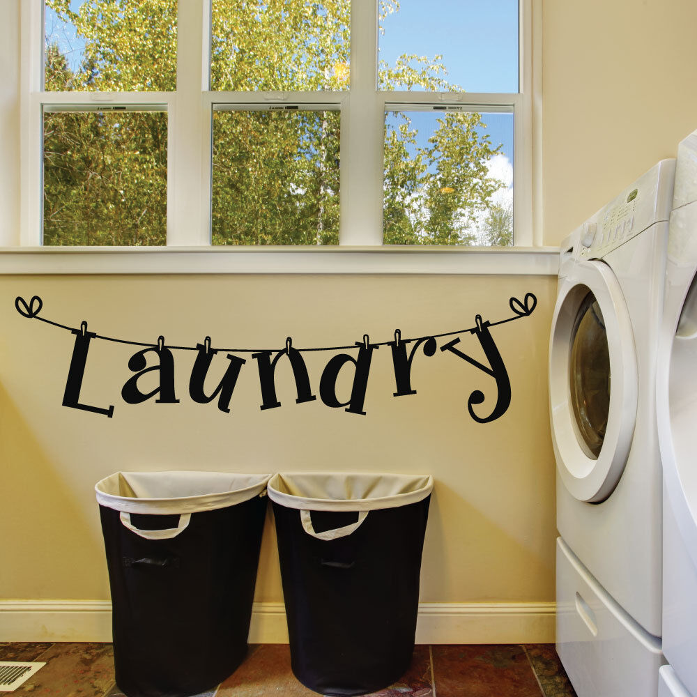 Laundry Room Wall Decals - Laundry Room Decals - Laundry ... on Laundry Decoration  id=13066