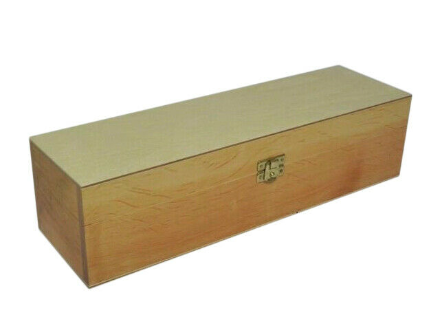 Wooden Long Box Case Crate Storage Decoupage Craft Wood